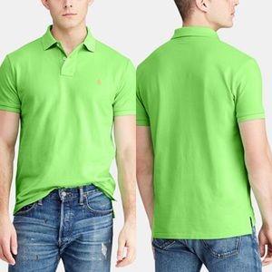 Polo Ralph Lauren lime green polo shirt Large M037